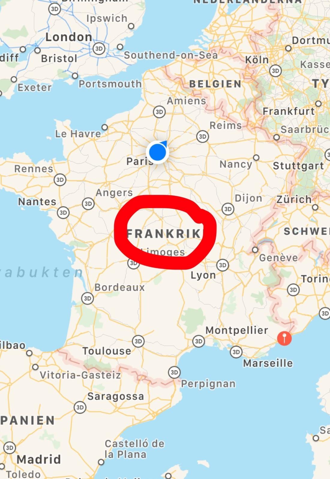 Det Franska Centralmassivet Wintmos I Paris